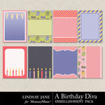 A Birthday Diva Journal Cards-$1.99 (Lindsay Jane)