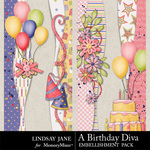 A Birthday Diva Borders-$1.49 (Lindsay Jane)