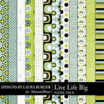 Live Life Big Paper Pack-$1.40 (Laura Burger)