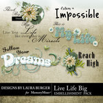 Live Life Big WordArt-$2.49 (Laura Burger)