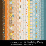 A Birthday Party Paper Pack-$3.49 (Lindsay Jane)