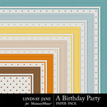 A Birthday Party Embossed Paper Pack-$1.99 (Lindsay Jane)