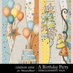 A Birthday Party Borders-$1.99 (Lindsay Jane)