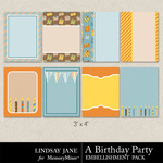 A Birthday Party Journal Cards-$1.99 (Lindsay Jane)