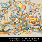 A Birthday Party Embellishment Pack-$3.49 (Lindsay Jane)