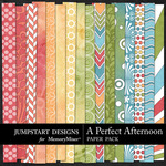 A Perfect Afternoon Patterned Paper Pack-$3.49 (Jumpstart Designs)
