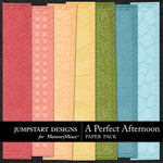 A Perfect Afternoon Embossed Paper Pack-$3.49 (Jumpstart Designs)