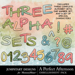 A Perfect Afternoon Alpha Pack-$2.49 (Jumpstart Designs)