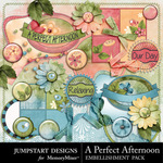 A Perfect Afternoon Flairs-$2.99 (Jumpstart Designs)