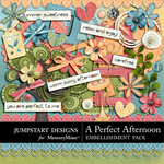 A Perfect Afternoon Add On Embellishment Pack-$2.99 (Jumpstart Designs)