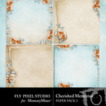 Cherished Memories Paper Pack 2-$3.49 (Fly Pixel Studio)