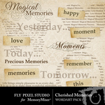 Cherished Memories WordArt-$2.49 (Fly Pixel Studio)