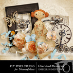 Cherished Memories Embellishment Pack-$1.50 (Fly Pixel Studio)