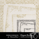 Elegant Borders Overlays-$1.99 (Indigo Designs)
