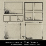 Text Frames-$1.99 (Word Art World)