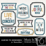 Music In Me WordArt-$2.99 (Albums to Remember)