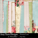 Forever Love Paper Pack-$3.49 (Amy Teets)