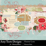 Forever Love Embellishment Pack-$3.49 (Amy Teets)