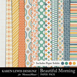 Beautiful Morning Paper Pack-$3.49 (Karen Lewis)