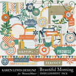 Beautiful Morning Embellishment Pack-$2.99 (Karen Lewis)