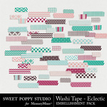 Eclectic Washi Tape-$1.99 (Sweet Poppy Studio)