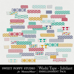 Jubilant Washi Tape-$1.99 (Sweet Poppy Studio)