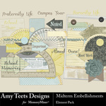 Midterm Embellishment Pack-$1.75 (Amy Teets)