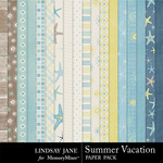 Summer Vacation Paper Pack-$3.49 (Lindsay Jane)