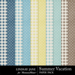 Summer Vacation Extra Paper Pack-$1.00 (Lindsay Jane)