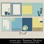 Summer Vacation Journal Cards-$1.00 (Lindsay Jane)