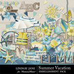 Summer Vacation Embellishment Pack-$1.75 (Lindsay Jane)