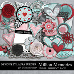 Million Memories Embellishment Pack-$2.45 (Laura Burger)