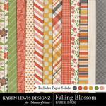 Falling Blossom Paper Pack-$3.99 (Karen Lewis)