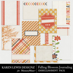 Falling Blossom Journaling Pack-$2.25 (Karen Lewis)