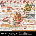 Falling Blossom Embellishment Pack-$2.75 (Karen Lewis)