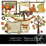 Harvest Delights Embellishment Pack-$3.45 (Karen Lewis)