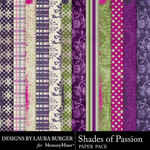Shades of Passion Pattern Paper Pack-$1.40 (Laura Burger)