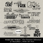 Our Summer Adventure Word Art-$2.49 (Word Art World)