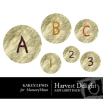 Harvest Delights Alphabet Pack-$1.00 (Karen Lewis)