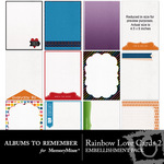 Rainbow Love Cards 2-$2.49 (Albums to Remember)