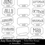 Ticket Date Stamps-$2.49 (Amy Teets)