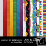 Arts and Crafts Paper Pack-$3.99 (Albums to Remember)