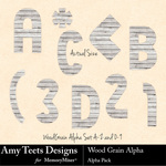 Wood Grain Alpha Pack-$0.99 (Amy Teets)