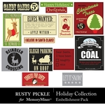 Holiday Collection Embellishment Pack-$1.99 (Rusty Pickle)