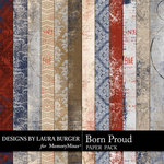 Born Proud Pattern Papers-$3.49 (Laura Burger)