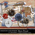 Born Proud Extra Embellishment Pack-$3.49 (Laura Burger)