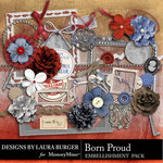 Born Proud Embellishment Pack-$3.49 (Laura Burger)