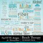 Beach Therapy WordArt Pack-$1.25 (Fayette Designs)