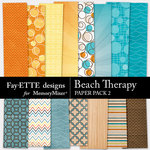 Beach Therapy Paper Pack 2-$1.50 (Fayette Designs)
