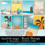 Beach Therapy Journal Cards-$1.99 (Fayette Designs)